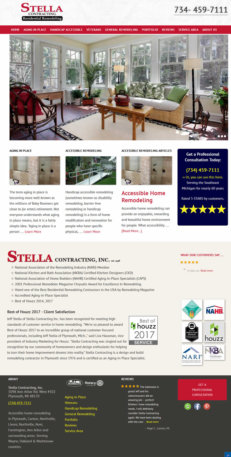 Stella Contracting, Inc. website